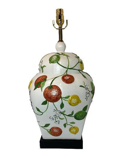 Vintage Ceramic Fruit Table Lamp