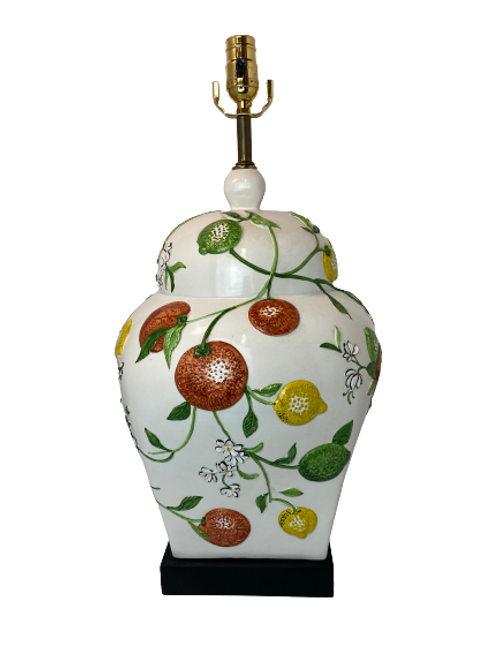 Vintage Ceramic Fruit Table Lamp
