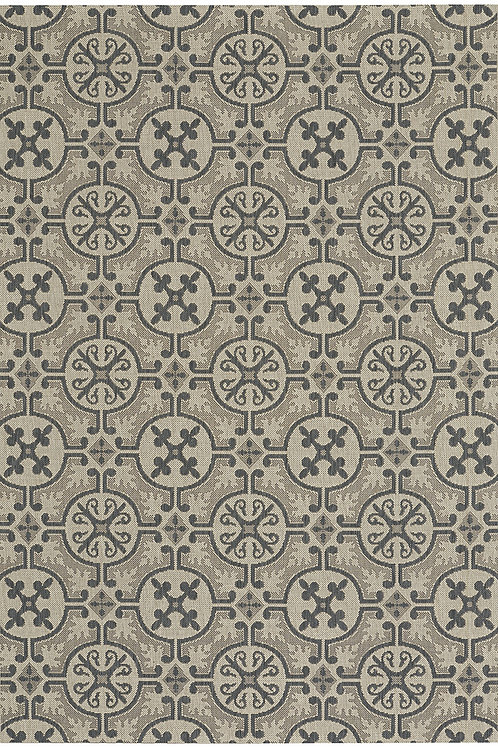 Tile Collection Outdoor Rug in Charcoal