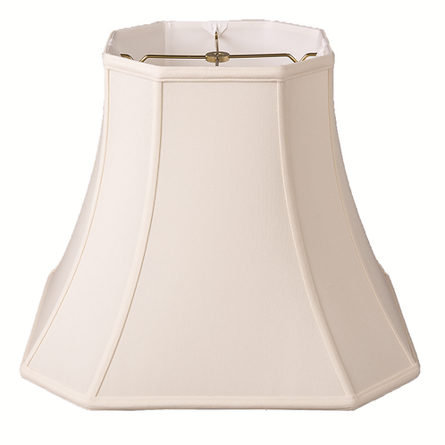 """Slubless Cut Corner Square Style Lampshades (10-18"""") in Egg and Tan"""