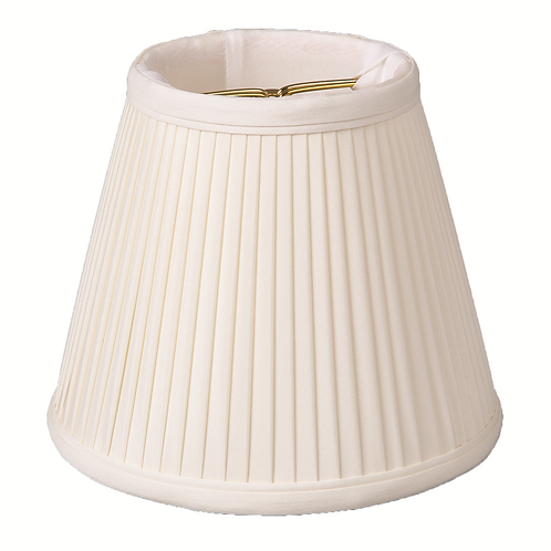 """Silk Chandelier Empire Knife-Pleated Lampshades (4-5"""") in Egg"""