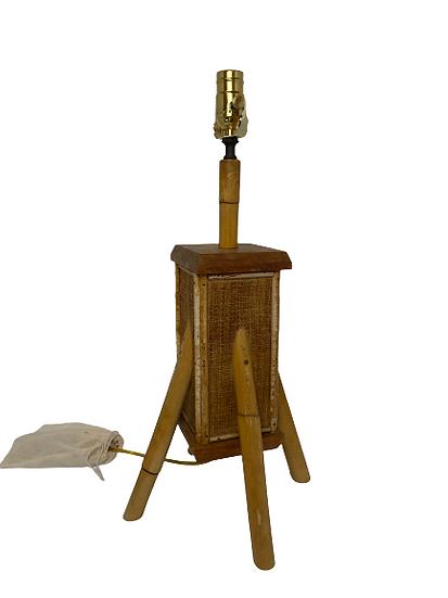 Vintage Bamboo Leg Table Lamp