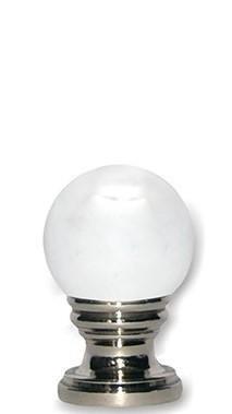 Crystal Ball in Polished Nickel