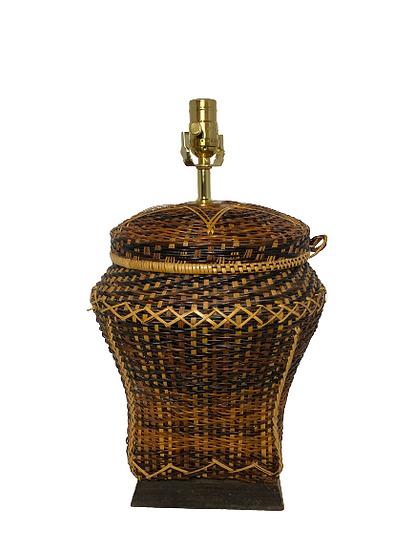 Vintage Wicker Star Table Lamp
