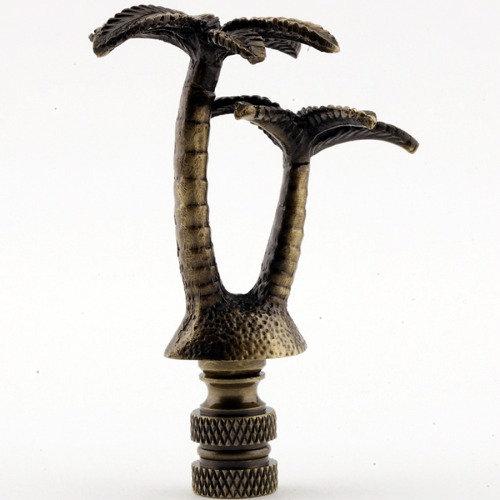 Antique Brass Palm Tree Finial