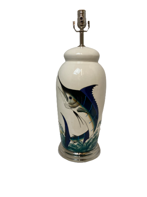 Vintage Sailfish Table Lamp