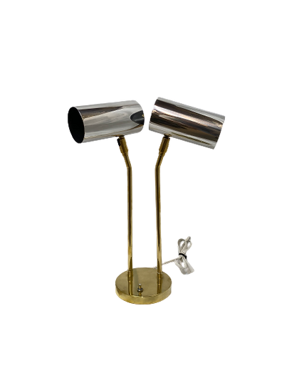 Vintage Brass and Chrome Table Lamp