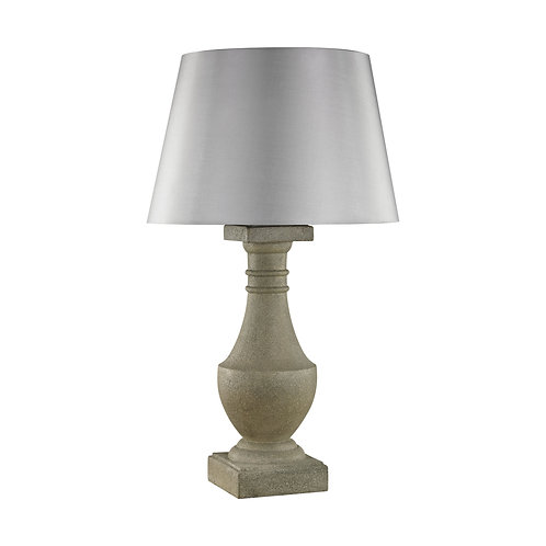 Sandstone Classic Outdoor Table Lamp with Grey Sunbrella Shade