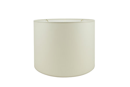 """Retro Drum Lampshade in Linen, Shantung, or Parchment 8"""" - 20"""""""