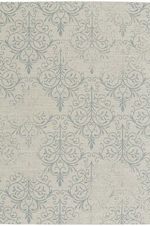 Heritage Collection Outdoor Rug in Spa Blue