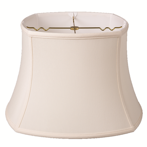 "Slubless Rounded Square Style Lampshades (10-18"") in Egg"