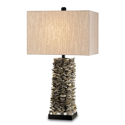 Stacked Oyster Shell Table Lamp