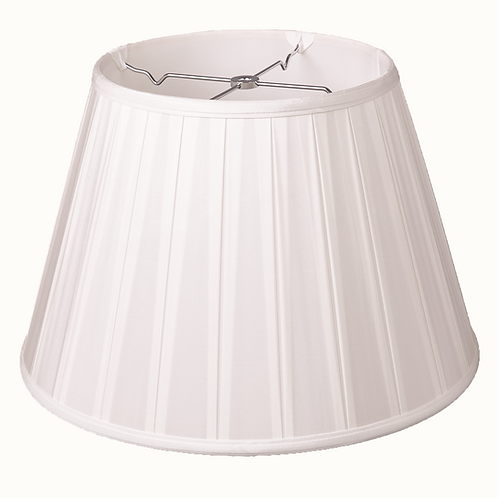 "Silk Box Pleated Softshade in Bone 12"" - 20"""