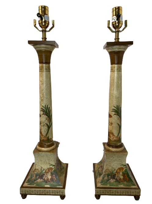 Vintage Vaughn Chinoiserie Table Lamp
