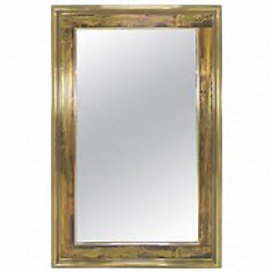 Mastercraft Vintage Brass Acid-Etched Mirror