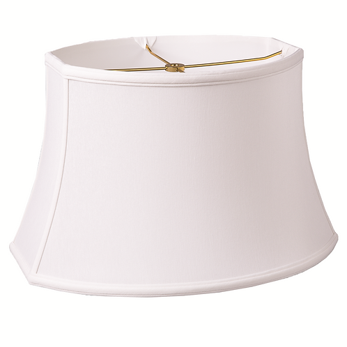 "Slubless Chipped Oval Style Lampshades (10-16"") in Antique White and Egg"