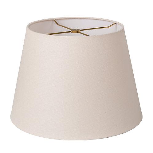 """Linen British Drum Style Lampshades (10-18"""") in Bone"""