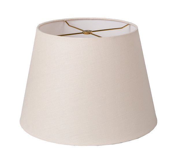 Linen Rolled Edge British Drum Style Lampshade