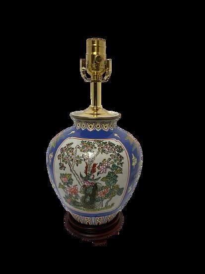 Vintage Flower Asian Motif Table Lamp