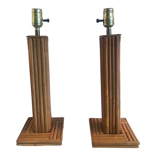 Vintage Bamboo Table Lamps