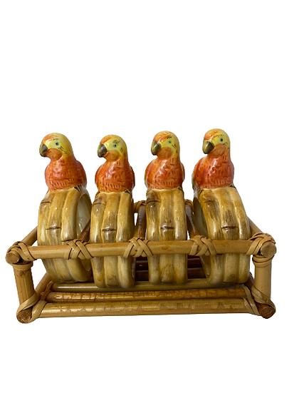 Vintage Parrot Napkin Rings