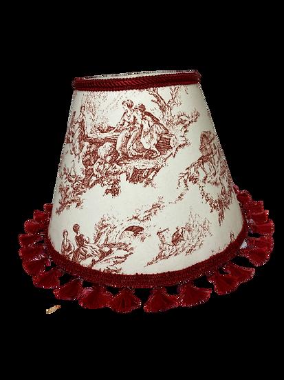 Red Rococo Hardback Lamp Shade