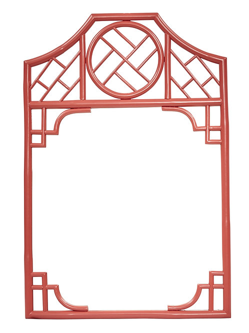 Chippendale Mirror in Red