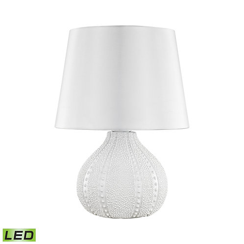 White Gorde Outdoor Table Lamp with Sunbrella Shade