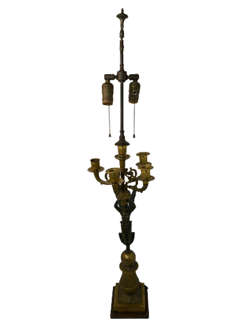 Antique Bronze Goddess Table Lamp