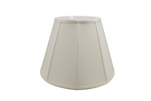 "Empire Softshade in Bone or Egg Shantung 8"" - 20"""