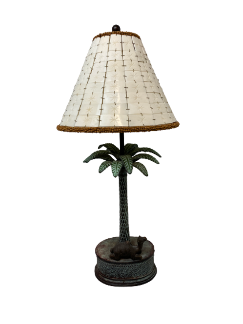 Vintage Bronze Table Lamp with Shade
