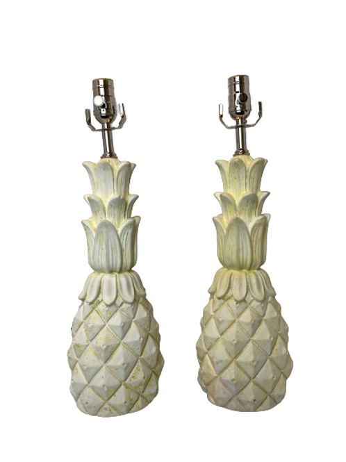 Rare Stamped Chapman Pineapple Table Lamps