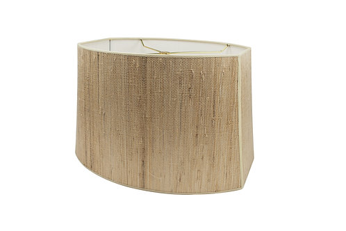 "Cut Corner Oval Style Lampshades (13-19"") in Grasscloth"
