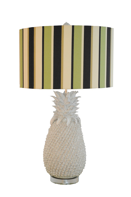One-of-a-kind Pair Ceramic Pineapple Table Lamp
