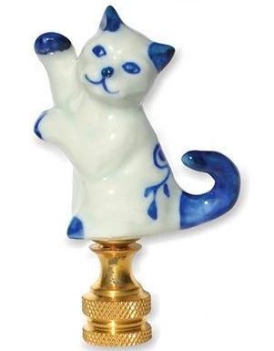 Blue & White Porcelain Cat
