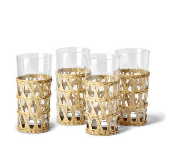 Large Hand-Woven Lattice Drinking Glass