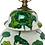Thumbnail: Vintage Green Floral Table Lamp