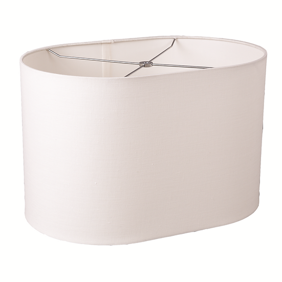 Linen Oval  Lampshade