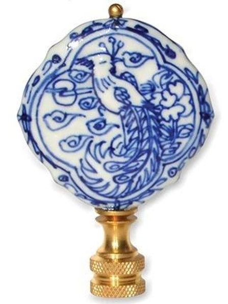 Blue and White Porcelain Bird Finial