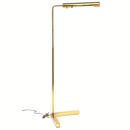 Casella Long Cylinder Brass Swivel Floor Lamp