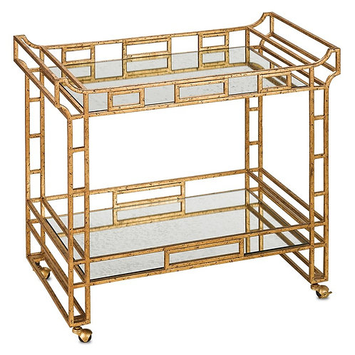 Oden Gold Leaf Bar Cart
