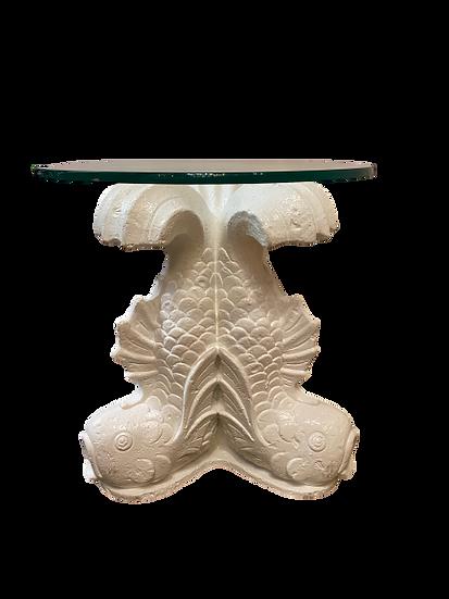 Vintage Koi Fish Table