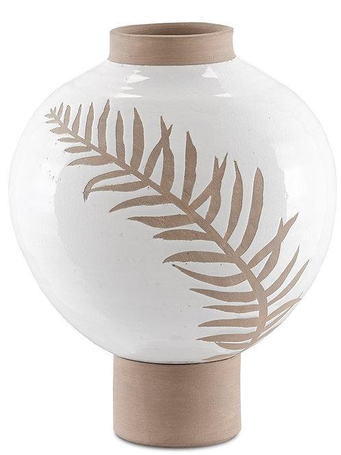 Fern White Vase