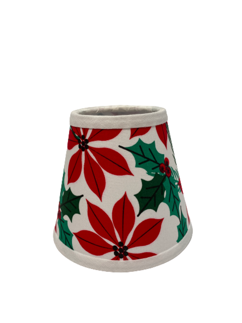 Holiday Poinsettia Chandelier Lampshade