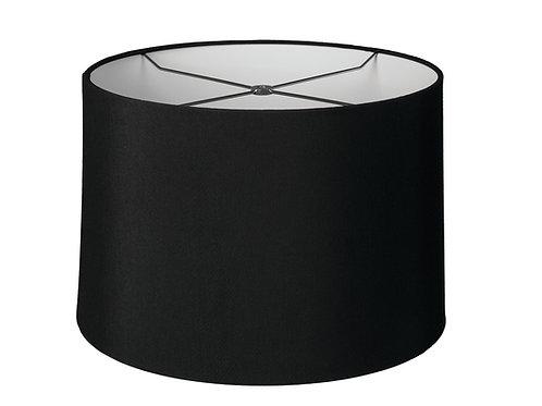 "Black Slubless Retro Drum Style Lampshades (10-20"")"