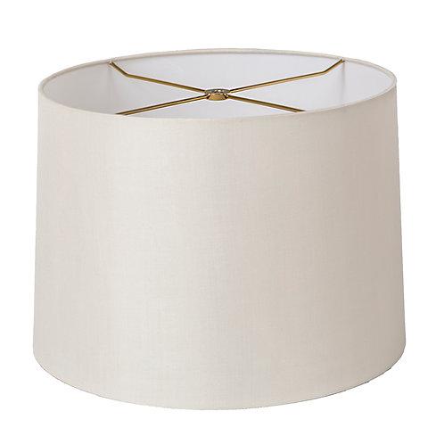 "Pure Silk Retro Drum Style Lampshades (10-20"") in Antique White"