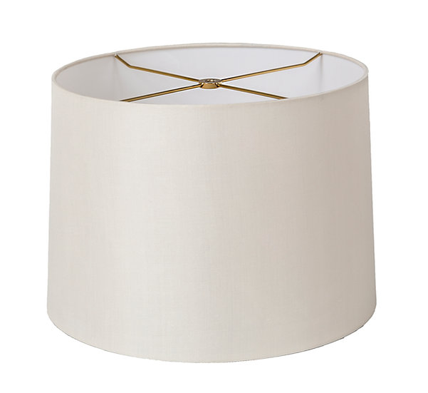 Pure Silk Rolled Edge Retro Drum Style Lampshade