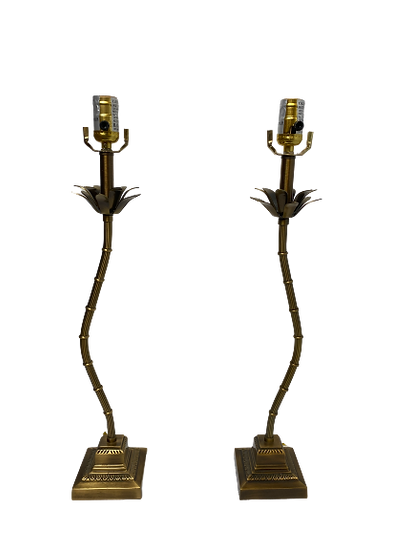 Vintage Gold Palm Tree Lamps