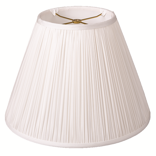 """Chandelier Lampshade in Bone or Egg Pleated Silk 4"""" - 5"""""""