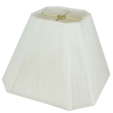 "Silk String Cut Corner Square Softshade in Off-White 8"" - 20"""